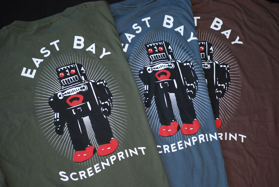 b7ffa3e7c roboto Blam! Simple 3 color print showing off our waterbased and discharge  screen ...